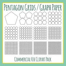 Pentagon Grids Graph Paper Clip Art For Commercial Use By Hidesys