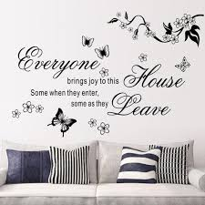 Beautiful House Quotes Best Of Bring Joys To This House Vinyl Wall Stickers Flower Quotes 24