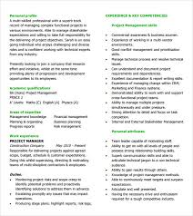 8 Project Manager Resumes Samples Examples Templates Sample
