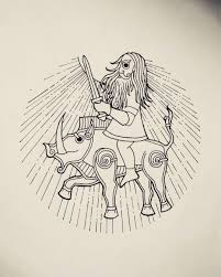 Freyr Riding A Gullinbursti Per Aspera Ad Astra татуировки
