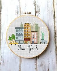 Modern Cross Stitch Patterns Fascinating Modern Cross Stitch Pattern New York Modern City Pattern Etsy