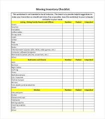 Inventory Checklist Template 26 Free Word Excel Pdf