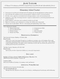 Teacher Resume Template Free Delectable Teaching Resume Templates Best Of Teacher Resume Template Free