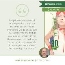 core values reading horizons company values integrity