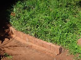 garden brick border edging bricks photo update path landscaping and