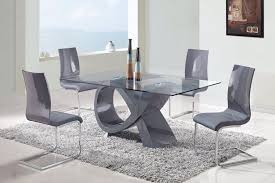 fascinating contemporary dining room sets with glass top dining table