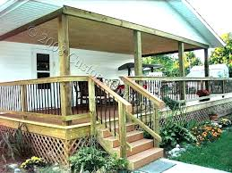 Backyard Deck Design Ideas Awesome Covered Deck And Patio Designs Details For Wood Decks Covers