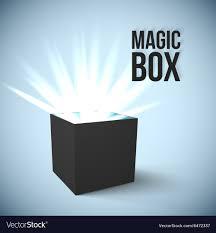 Black Box Graphic Design Black Box With Magic Lights