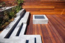 Decking Designs For Small Gardens Mesmerizing Modern Deck Design With Small Fireplace
