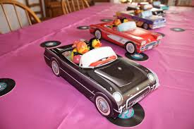 Cars Party Decorations Decor For 50 S Party Bought 50s Style Car Decorations And They
