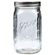 wide mouth glass jar 1 quart