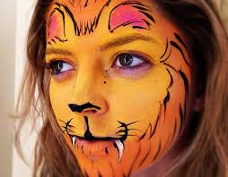 big grins face painting lion