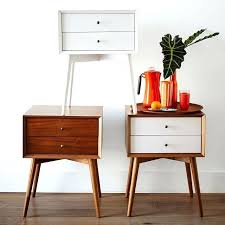 mid century nightstand white gloss finish night stand perfect for modern bedroom in stands ideas interior table lamps australia
