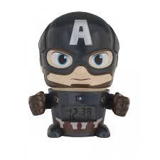 Часы <b>Марвел</b> (<b>Marvel</b>) Будильник BulbBotz минифигура Captain ...