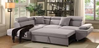 sectional sleeper sofa fabric. Wonderful Fabric Acme 52990 Jemima Gray Fabric Sectional Sofa WSleeper Contemporary Casual  Left Order Online Throughout Sleeper B