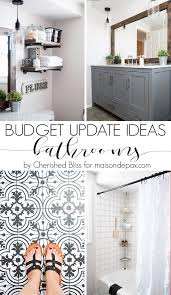 budget bathroom diy ideas maison de pax