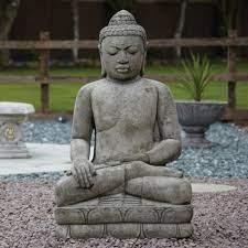 buddha statue border stoneware