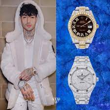 Front figure of Italian trap group 'Dark Polo Gang' Tony Effe doubled up -  Superwatchman.com