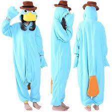 Ss Cosplay Anime Blue Platypus Easter Onesie Halloween Costumes Adult Women Men Pajamas Christmas Jumpsuit Romper Fleece Costume Themes Good Group