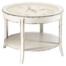 20 inspirations of clock coffee tables round shaped