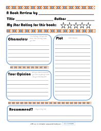 Elementary Book Report Template On Book Report Worksheet Printable