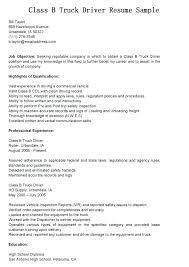 Resume Truck Driver Position Sample Resume For Truck Driver Sample Resume Truck Driver Truck