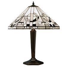 metropolitan art deco style tiffany table lamp antique brass base