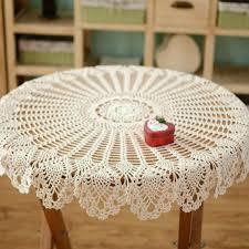 tablecloth for coffee table hand crochet pattern table cover handmade coffee table cover night stand cover
