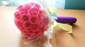 How To Make A Simple Paper Flower Bouquet How To Make Paper Flower Bouquet Handmade Paper Bouquet Easy Step By Step