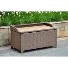 white wicker storage bench outdoor wicker storage bench