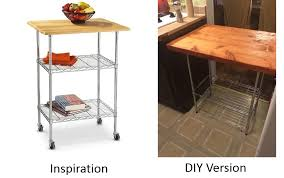 diy butcher block kitchen cart