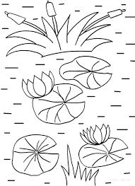 Lily Pad Coloring Page L L L L L