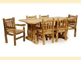 Log Dining Room Tables Aspen Dining Room Furniture Southern Creek Rustic Furnishings
