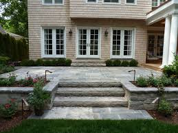 raised concrete patio how to build a with retaining elevated tiles over