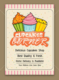 Cupcakes Corner Template Cupcake Bakery Brochure Cupcake Shop Menu
