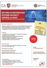 event manager diploma in information systems security control audit dissca