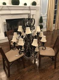 beautiful center hall or dining room chandelier solid steel loaded with crystals and 16 lights about