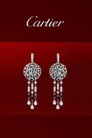 cartier art deco chandelier panthere earrings profile photo