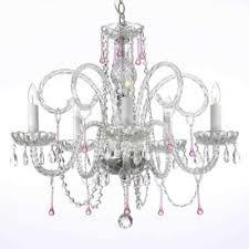 pink chandelier lighting. Venetian Style 5Light Crystal Chandelier In ClearPink Pink Lighting