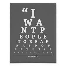 The Office Eye Exam Chart Zazzle Co Nz Eye Exam Exam