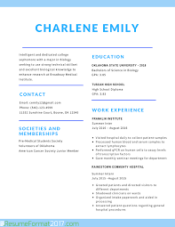 The Greatest Student Resume Format 2017 Resume Format 2017