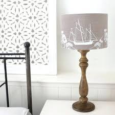 coastal lamp shades coastal collection hand printed linen lampshade coast lamp shades