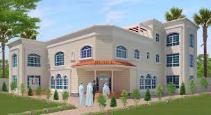saudi arabia arabian style villa 3d home front elevation جزيره العرب السعودية والعربية على غرار فيلا 3d الجبهة الداخلية الارتفاع