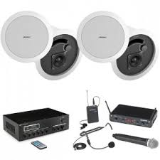 wireless office speakers. Quick Look Conference Room Sound System With 4 Bose In-Ceiling Speakers MA30BT Bluetooth Mixer Amplifier And Wireless Office