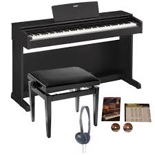 yamaha electric piano. yamaha ydp-143 arius digital piano black walnut bundle electric