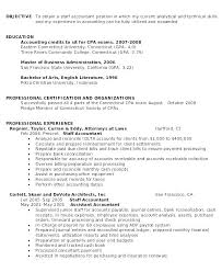 Objective Accounting Resumes Staff Accountant Resume Emelcotest Com