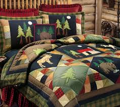 Canadian Quilts For Sale & Canadian Flag Pixel Heart Quilt ... & TIMBERLINE 7pc Queen QUILT SET : LODGE MOOSE BEAR CABIN PINE TREES . Adamdwight.com