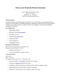 Entry Level Resume Example Inexperienced Resume Examples 60 Sample Entry Level Resume Templates 14