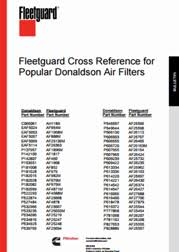 Donaldson Oil Filter Cross Reference Chart Fleetguard Cross Reference For Donaldson Air Filters