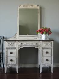ornate bedroom furniture. Bedroom Furniture White Wooden Vanity Table Decor With Rectangle Mirror And Ornate Hand Carved Ornaments Antique Makeup